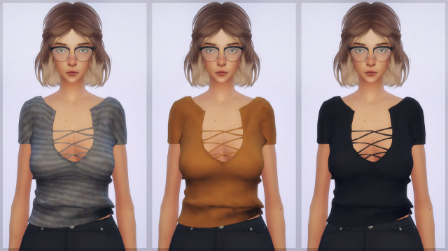Chisami's Lace-up front top by EllieSimple