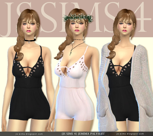 Jemima Playsuit by JS Sims 4