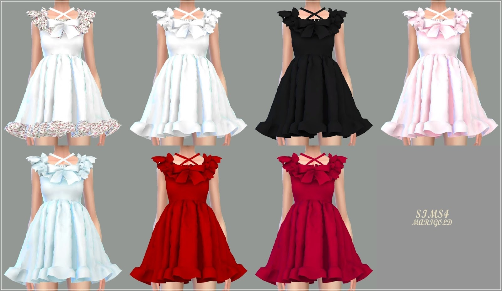 Frill Bonnet & Pure Doll Dress by marigold