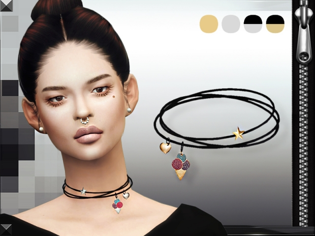 Charms Necklace by MissFortune Sims