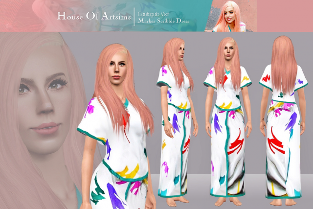 Visit  Marker Scribble Dress by ArtSims