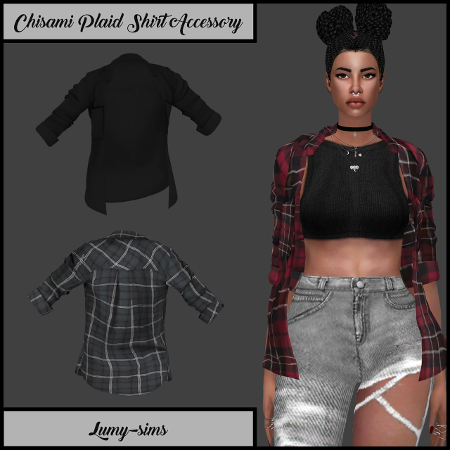 Chisami Plaid Shirt Accessory by Lumy-sims