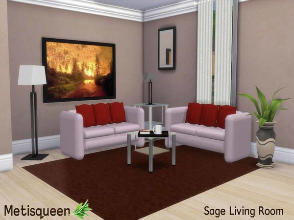 Metisqueen Sage Living Room by metisqueen
