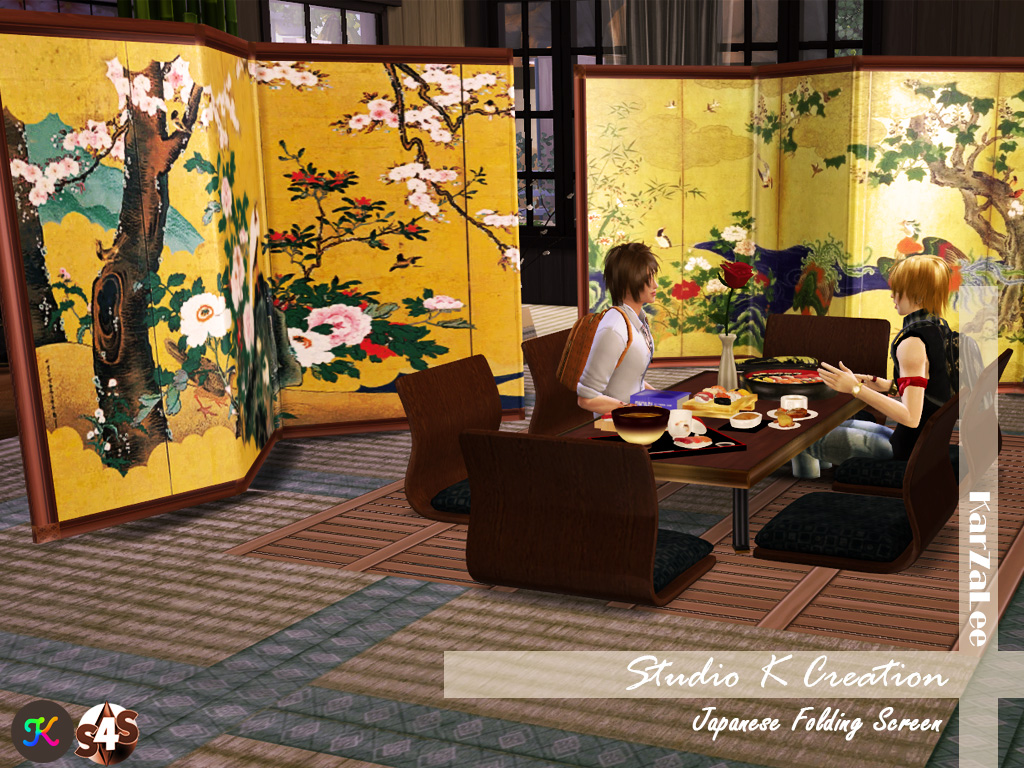 Japanese Folding Screen by Karzalee