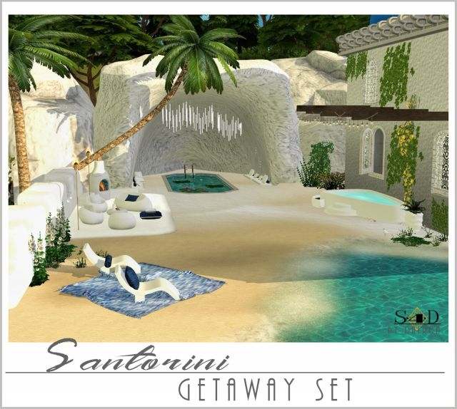 Santorini Getaway Set - New Meshes by Daer0n