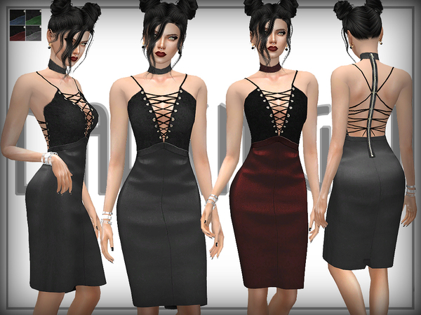 Leather and Suede Dress by DarkNighTt
