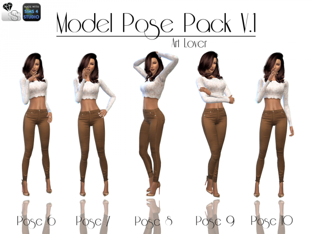 MODEL POSE PACK V1 by sweetsorrowsims