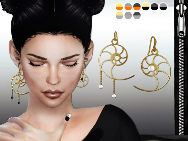 Nautilus Earrings by MissFortune Sims