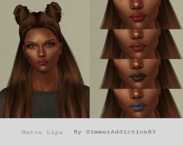 Matte Lips by SimmerAddiction83