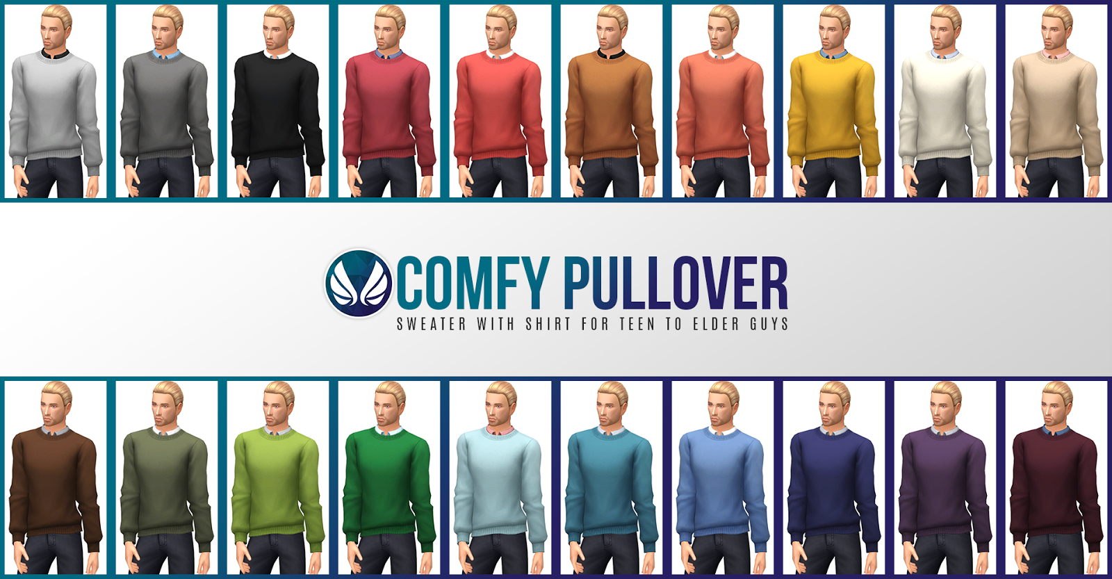 Comfy Pullover Sweater for Males by Peacemaker ic