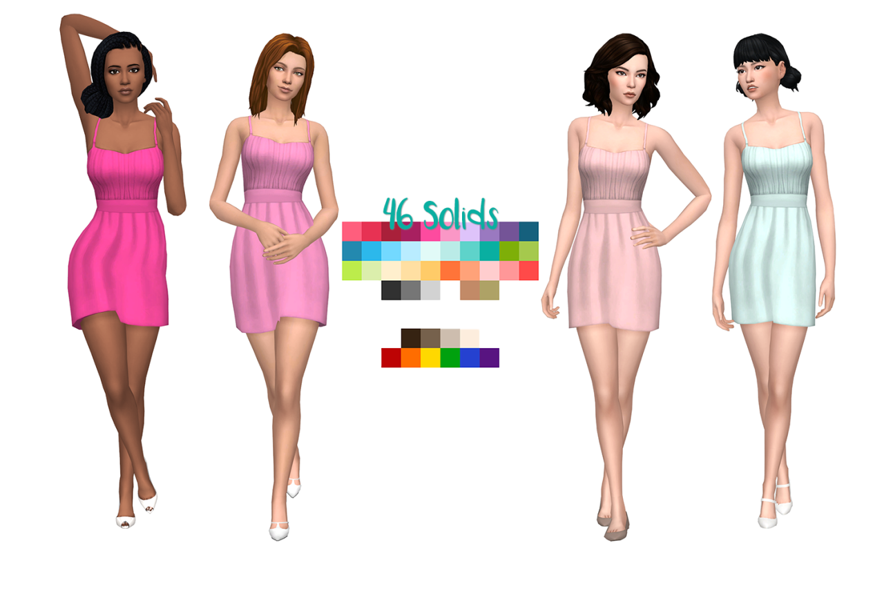The Caity Dress by DeelitefulSimmer and SaudadeSims