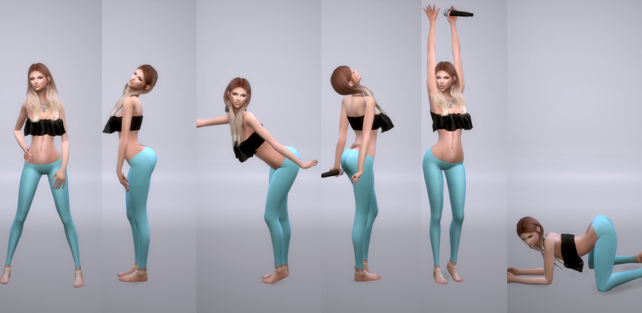 Model Pose Set  10 -  CAS & Pose Pack version by ConceptDesigns97Sims