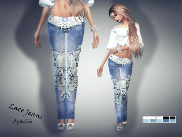 Lace Jeans by Apathie