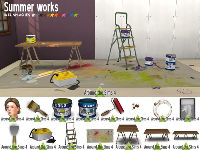 Summer Works Paint Set in 12 Colors by Sandy