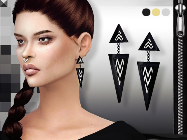 Triangle Earrings by Missfortune sims