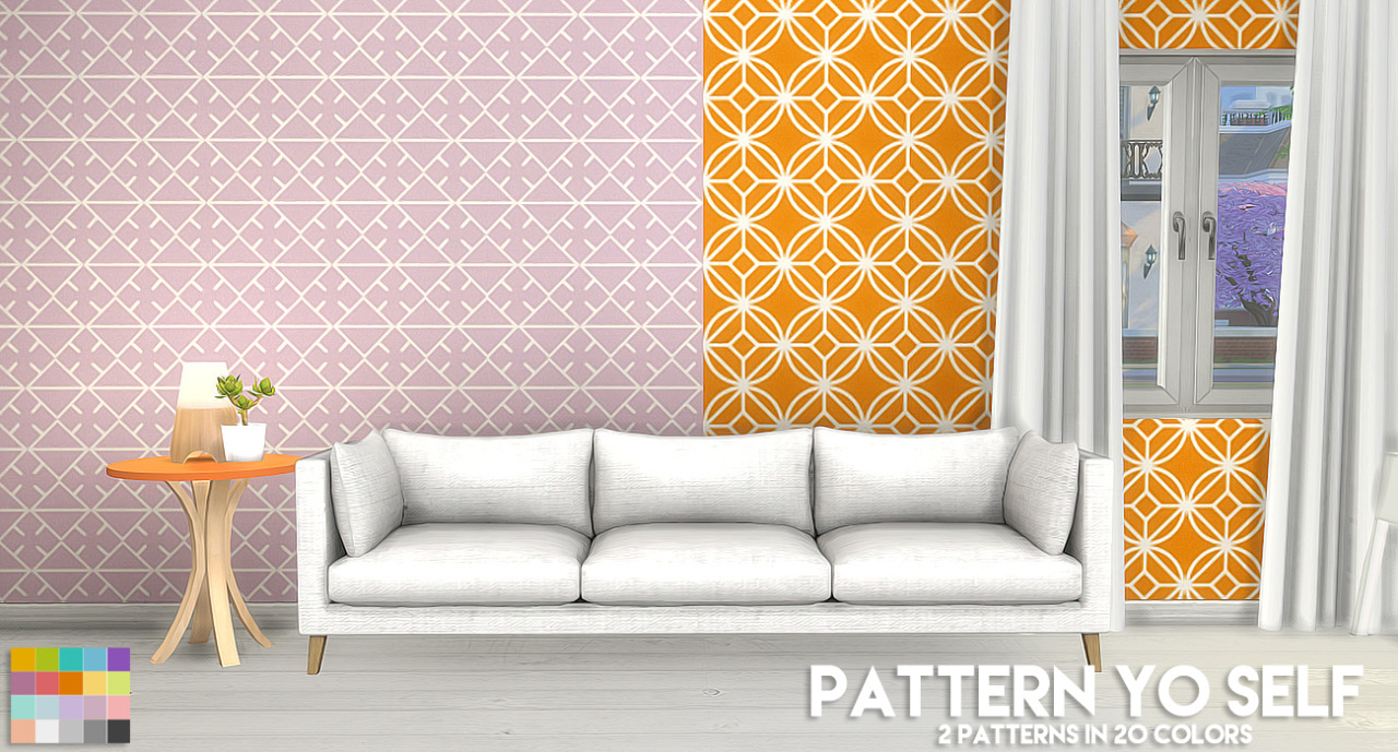 800 followers gift - Pattern Yo Self 2 by ThePlumbobArchitect