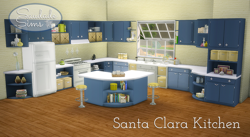 Santa Clara Kitchen Set - 25 New Objects by SaudadeSims