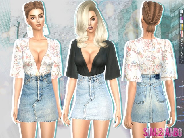 214 - Casual outfit by sims2fanbg