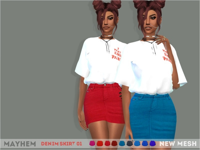 Denim Skirt 01 by mayhem-sims