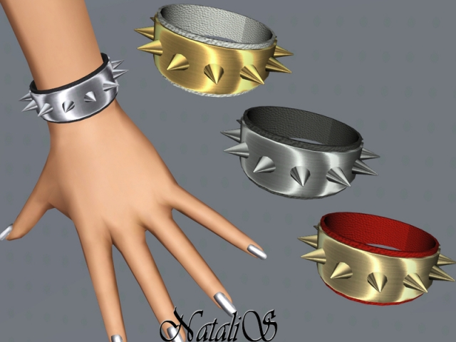 Metal spikes bracelet FT-FA by NataliS