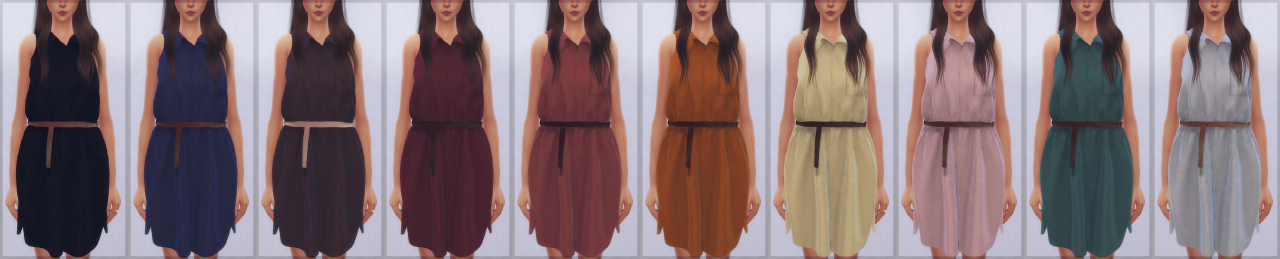TS3 Shirt Dress Conversion by EllieSimple