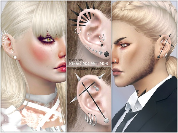 Piercing Set N06 by Pralinesims