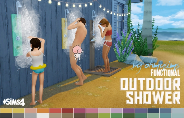 Functional Public and Outdoor Shower by Ohmysims