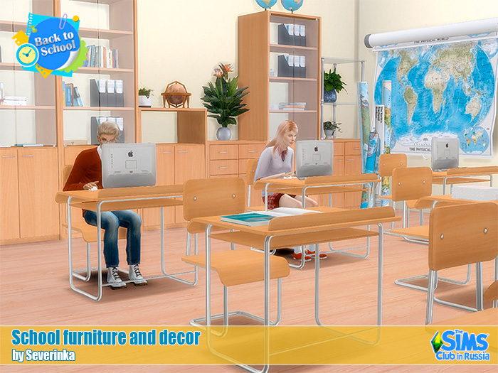 School furniture and decor by Severinka