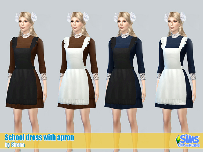 School dress with apron by Sirena
