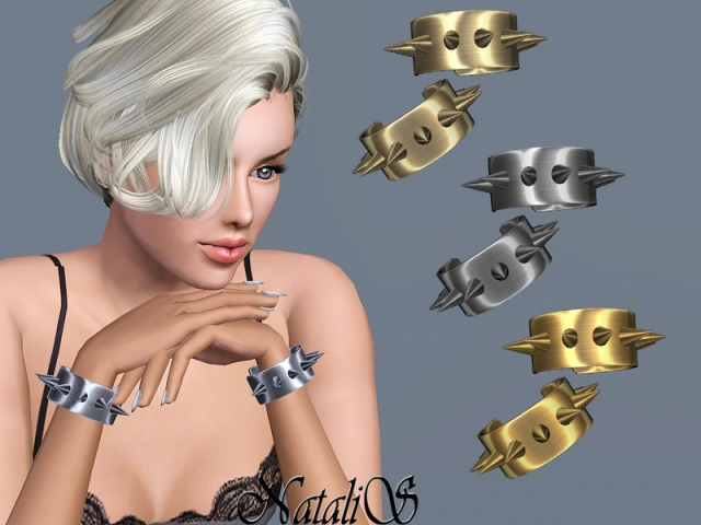 Metal spikes cuffs FT-FA by NataliS
