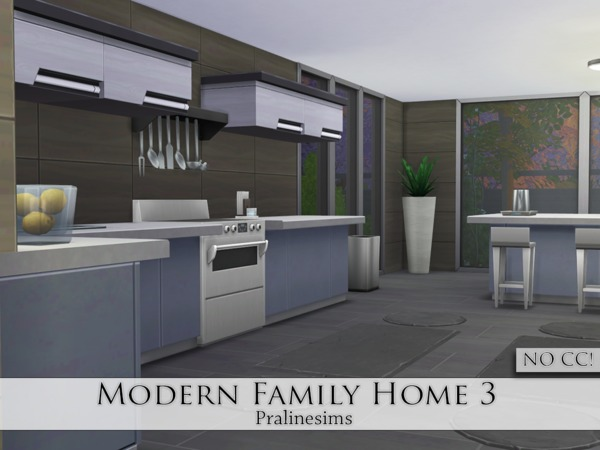 Modern Family Home 3 by Pralinesims