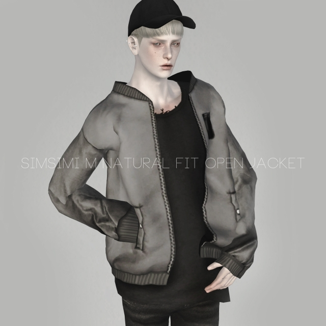 M NATURAL FIT OPEN JACKET by Simsimi