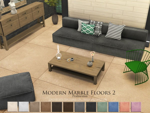 Modern Marble Floors 2 by Pralinesims