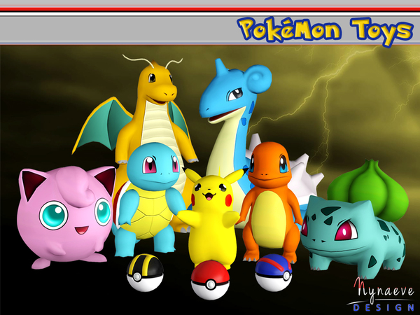 Pokemon Toys by NynaeveDesign