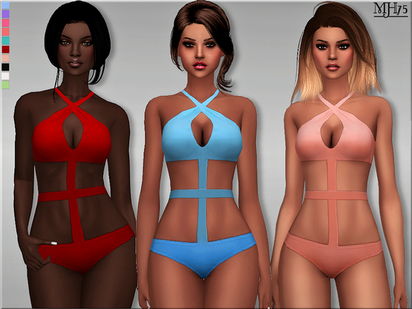 S4 Bandage Halter Outfit by Margeh-75