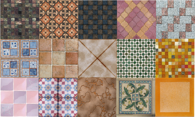 Floor Tile-Set Part 5 by Tatschu