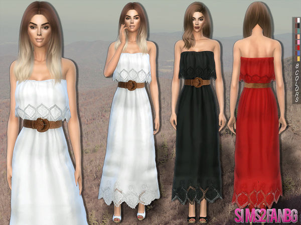 215 - Dress with belt by sims2fanbg