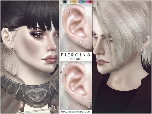 Piercing Set N07 by Pralinesims