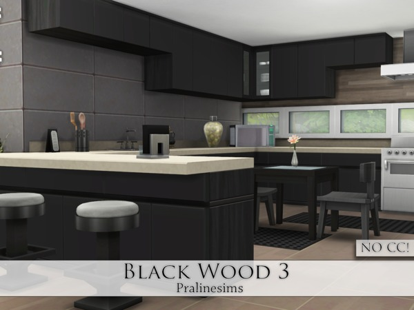 Black Wood 3 by Pralinesims