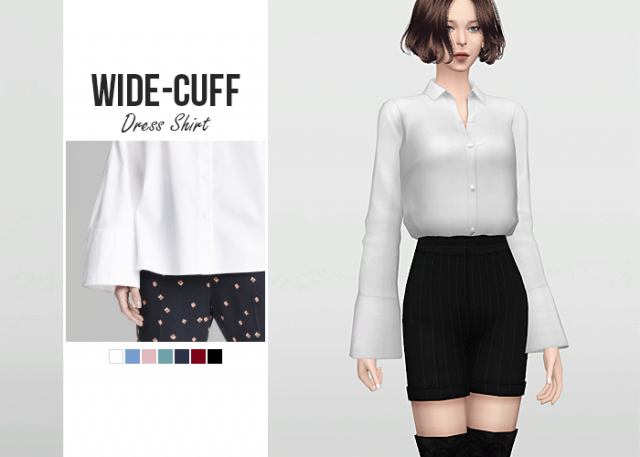 Wide Cuff Dress Shirt от Waekey