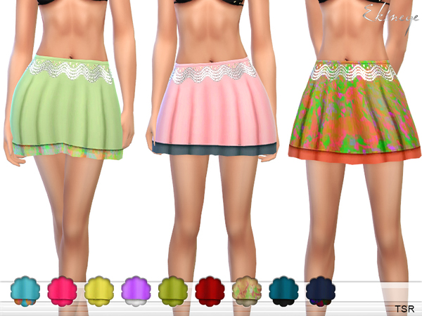 Beach Mini Skirt by ekinege