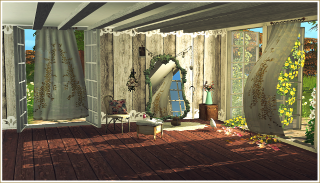 Wind Blown Curtains, Antique Mirrors + Victorian Lace Rugs (new meshes) Vol.I от Daer0n