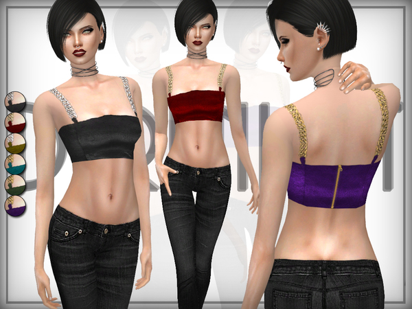 Leather Chain Bralet by DarkNighTt