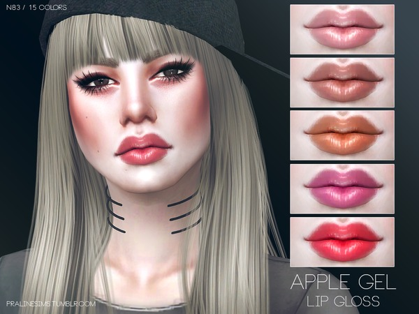 Apple Gel Lip Gloss N83 by Pralinesims