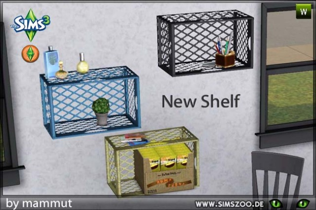 New wall shelf with slots by mammut