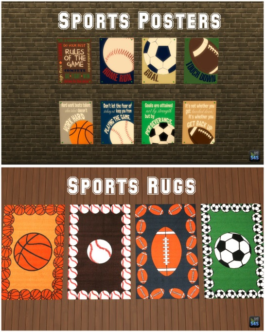Sporty Decor Set by silverwolf6677