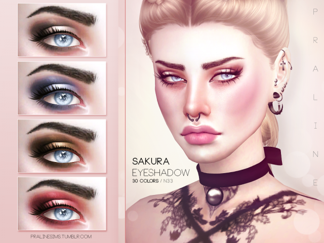 Sakura Eyeshadow by Pralinesims