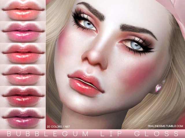 Bubblegum Lip Gloss N87 by Pralinesims