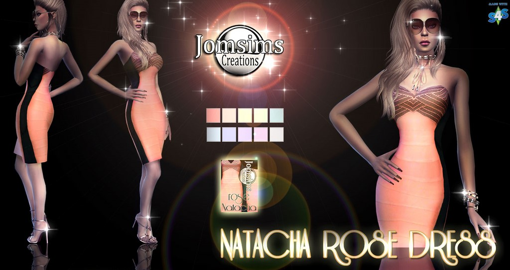 Natacha Rose Dress by JomSims