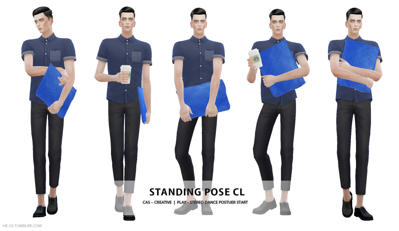 TS4 STANDING POSE C, CL CAS&PLAY by HESS